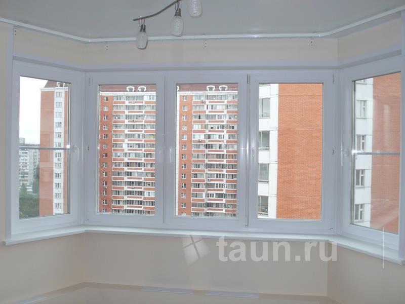 Фото 49. окно пластиковое на кухне с двумя эркерами из профи.